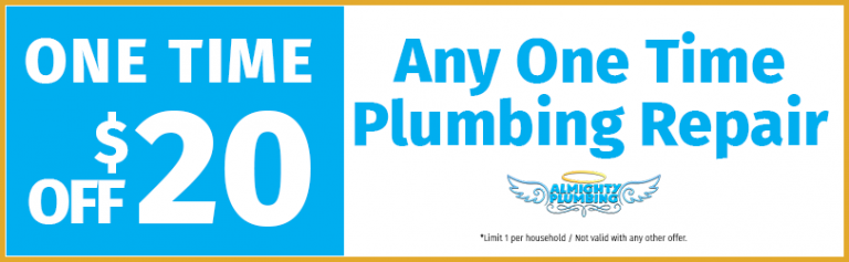 one time plumbing repair coupon
